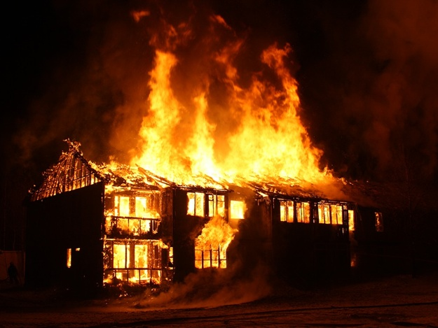 very short essay on a house on fire